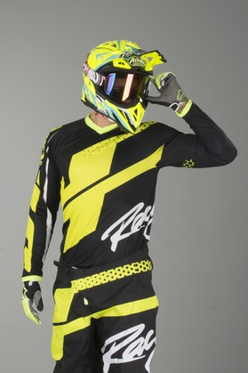 Bluza Cross JT Racing Flex Hi-Lo Czarno-Neon-Żółta
