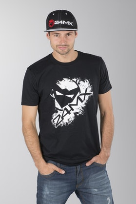 24MX Head T-Shirt Black