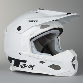 JT Racing ALS 2.0 Motocross Helmet White