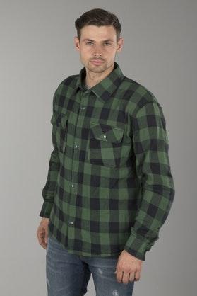 Koszula flanelowa Course Wzmocniona Aramidem Czarno-Zielona