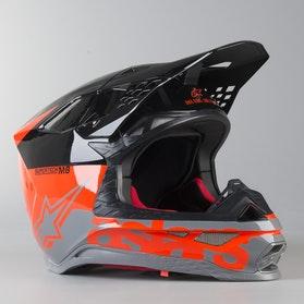 Kask Cross Alpinestars Supertech M10 Dyno ECE Czerwono-Biały
