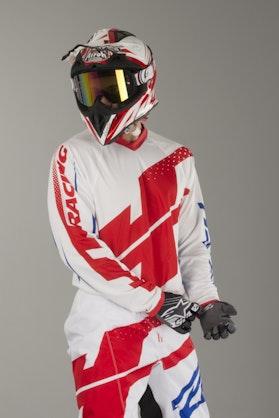 Bluza Cross JT Racing Flex Hi-Lo Biało-Czerwono-Niebieska