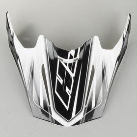 Kšilt helmy HJC RPHA X Černá-Stříbrná Stříbrnábolt MC5