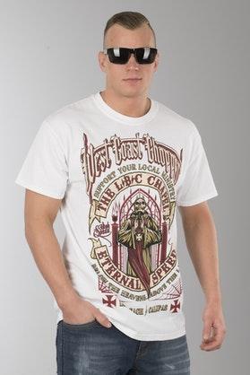 T-Shirt West Coast Choppers Chapel Biały