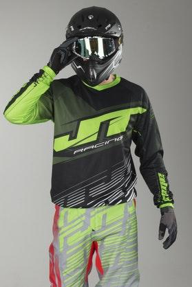 Cross Mikina JT Racing Prime Černá-Žlutá-Šedá