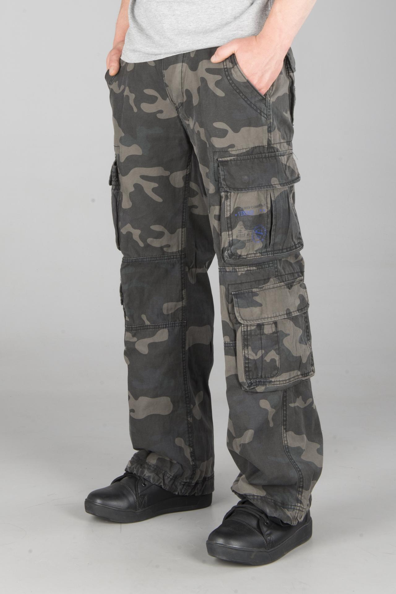 Bukse Brandit Pure Vintage Mørk Camo Laveste prisgaranti