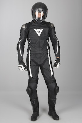 Dainese Assen Perf. 2-Piece Leathers Black-White