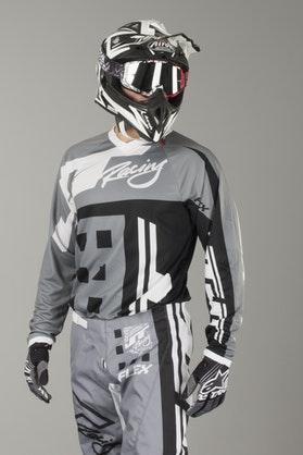 Bluza Cross JT Racing Flex Exbox Szaro-Czarna