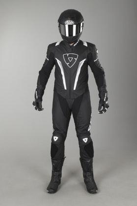 Kombinezon skórzany Revit Venom Czarno-Biały
