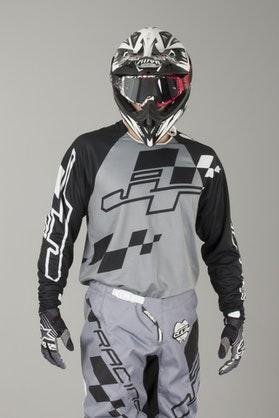 Bluza Cross JT Racing Hyperlite Checker Czarno-Szaro-Biała