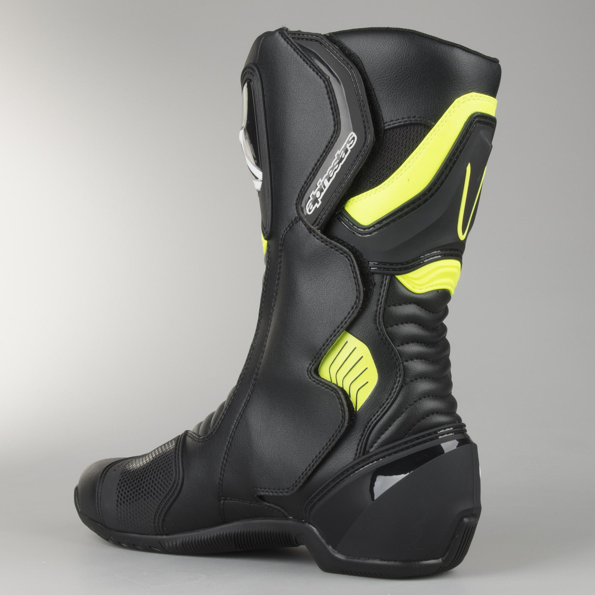 Alpinestars SMX 6 V2 Boots Black Yellow Fluo | SETTANTADUE.IT