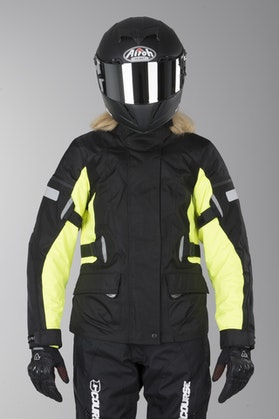 Acerbis Triskele Ladies' Motorcycle Jacket Black-Yellow
