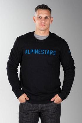 Bluza z Kapturem Alpinestars Distance Czarno-Niebieska