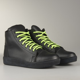 Course MX Sneakers  Black with Neon Green Laces