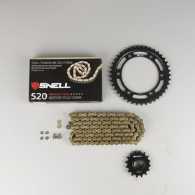 Snell Powerlink Chain & Sprocket Kit 520 X-Ring