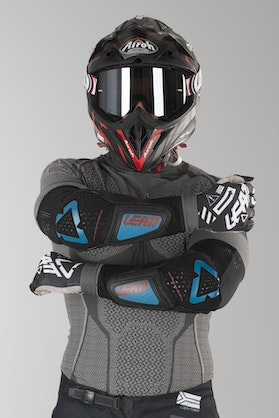 Leatt 3DF Hybrid Elbow Protection Fuel-Black