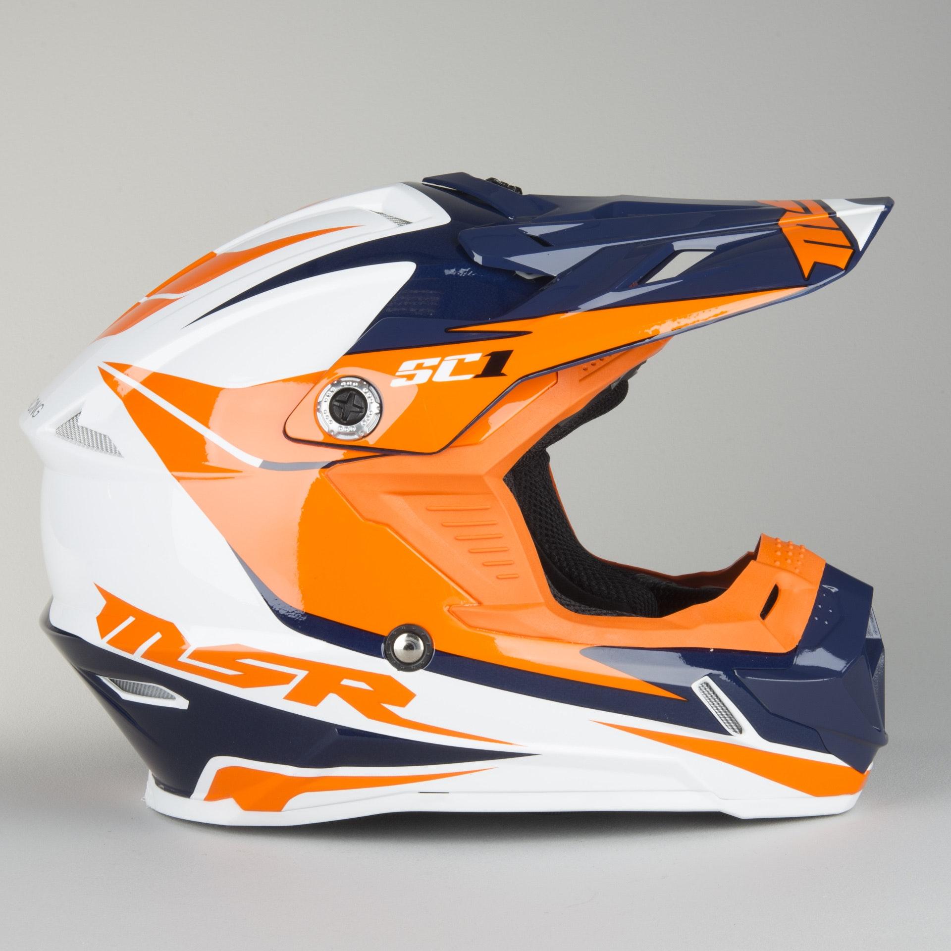 MSR SC1 Score Visor Grey//Orange//Silver 359859