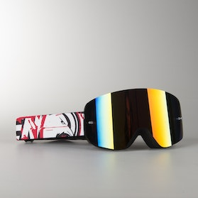 "Raven Edge ""Assasin"" MX Goggles Red Mirror Double Lens"