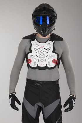 Alpinestars A-4 Chest Protector White-Black-Red