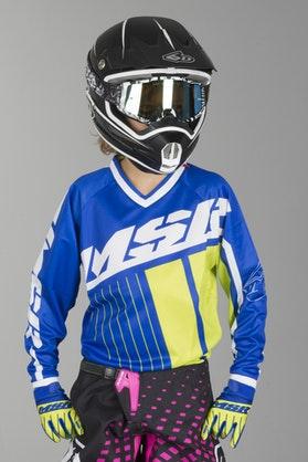 Bluza Cross Dziecięca MSR M16/17 Axxis Niebiesko-Biało-Zielona