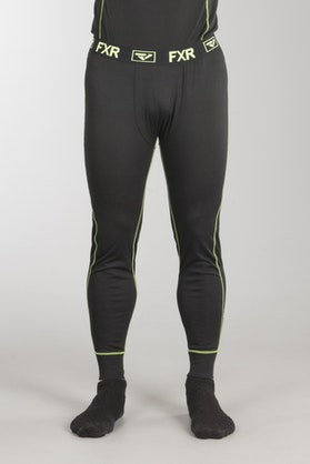 FXR Vapour 20% Merino Base Layer Trousers Black-HiVis