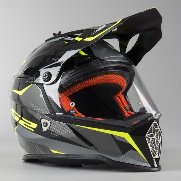 save off order online innovative design LS2 MX436 Pioneer Ring Adventure Helmet Black-Titanium-Hi-Vis ...