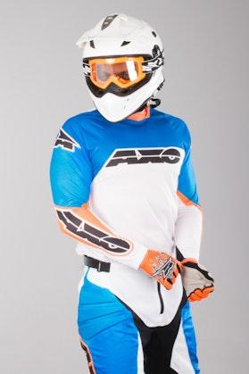 Bluza Cross Axp Prisma Apparel Biało-Niebiesko-Pomarańczowa