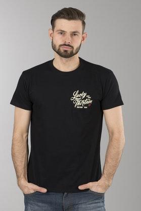 T-Shirt Lucky 13 Vintage Iron Czarny