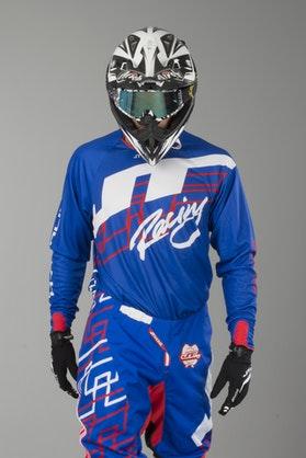 Bluza Cross JT Racing Hyperlite Shuffle Niebiesko-Czerwono-Biała