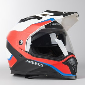 Acerbis Reactive Graffix Adventure Helmet White-Red