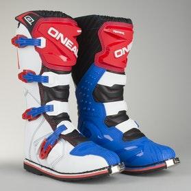 Cross støvler O'Neal Rider Blå-Rød-Hvid