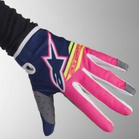 Alpinestars Radar Flight Gloves - Blue-Pink-Flourescent White