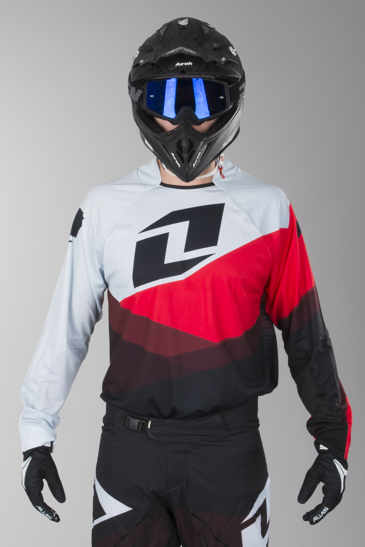 2016 ONE INDUSTRIES ATOM VENTED MOTOCROSS KIT RED WHITE BLUE pants jersey