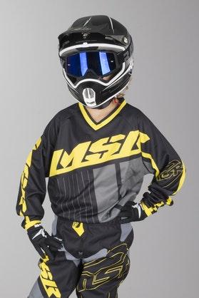 Bluza Cross MSR M17 Axxis Czarna-Żółto-Szara Dziecięca