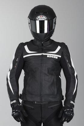 IXS Shertan Leather Jacket Black-White