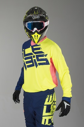 Acerbis Airborne MX Jersey Yellow-Blue