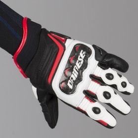 Rękawice Dainese Carbon D1 Krótkie Czarno-Biało-Czerwone
