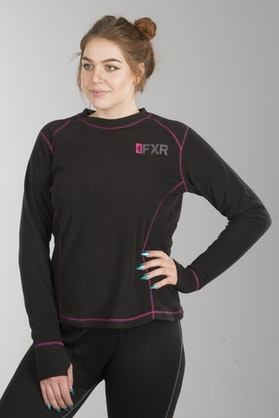 FXR Pyro Thermal Base Layer Shirt Black-Pink