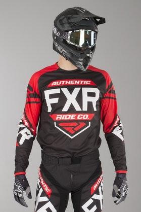 Bluza Cross FXR Clutch Retro Czarno-Czerwono-Biała
