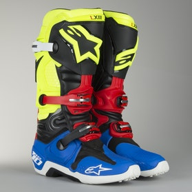 Alpinestars TECH 10 MX Boots Black-Blue-Red-Fluo Limited Edition