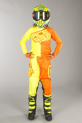 Acerbis Eclipse Youth MX Jersey Yellow Fluo-Orange