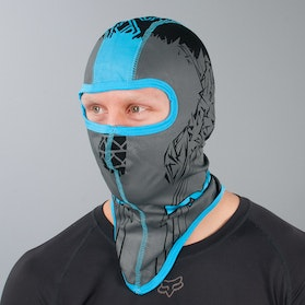 FXR Balaclava Shredder Black-Cyan