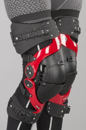 Asterisk Cell Knee Protection - Red
