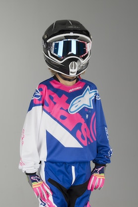 Alpinestars Youth Racer Venom Jersey Blue-Fluorescent Pink-White