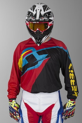Acerbis Pofile MX Motocross Jersey Red-Black