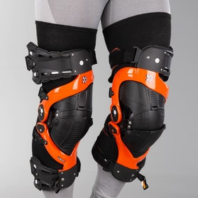 Asterisk Ultra Protection System 2.0 Knee Guard Orange Pair