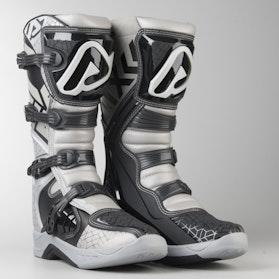 Acerbis X-Team MX Boots Silver-White