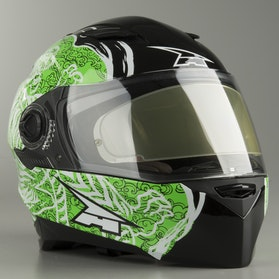 Kask Integralny AXO RS01 Czarno-Zielony