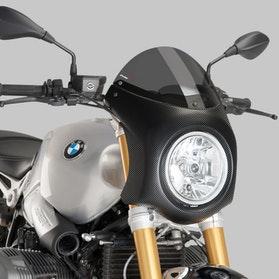 Owiewka Puig Retrovision BMW R NineT 14'-17' Karbon/Ciemna Przydymiona