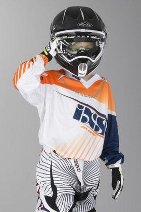 Bluza cross IXS Gravity Pomarańczowy-Biały-Niebieski Dziecko